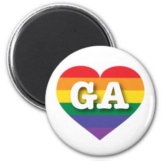Georgia Gay Pride Rainbow Heart - Big Love Magnet