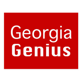 Georgia Genius Gifts Postcard