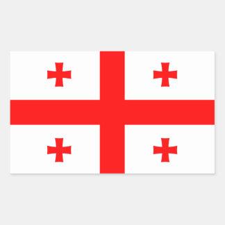 Georgia/Georgian Flag Rectangular Sticker
