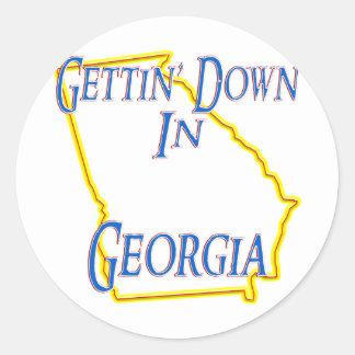 Georgia - Getting abajo Pegatinas Redondas