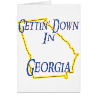 Georgia - Getting abajo Felicitación