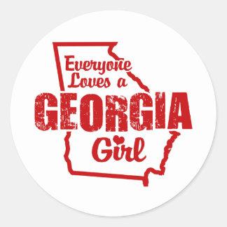 Georgia Girl Round Stickers