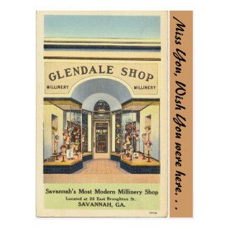 Georgia, Glendale Millinery Shop Post Cards