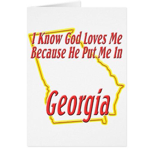 Georgia - God Loves Me Greeting Card