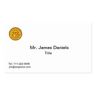 Georgia Great Seal Business Card Template