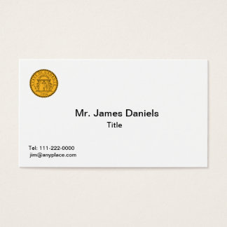 Georgia Great Seal Business Card Template