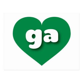 georgia green heart - mini love postcard