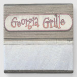 Georgia Grille Buckhead Atlanta Marble Stone Coast Stone Coaster