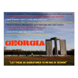 Georgia Guidestones post card