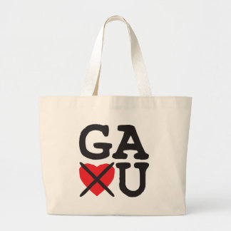 Georgia Hates You Large Tote Bag