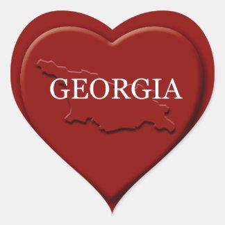 Georgia Heart Map Sticker