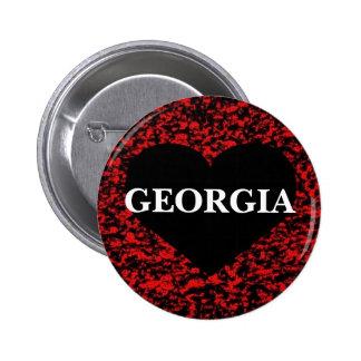Georgia Heart Red Pin