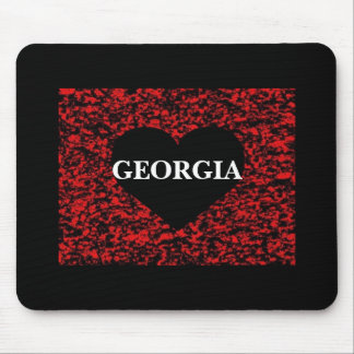 Georgia Heart Red Mouse Pad