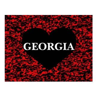 Georgia Heart Red Postcard