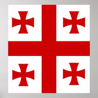 Georgia High quality Flag Poster