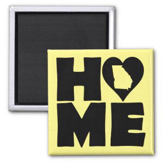 Georgia Home Heart State Fridge Magnet