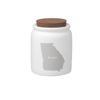 Georgia home silhouette state map candy jars