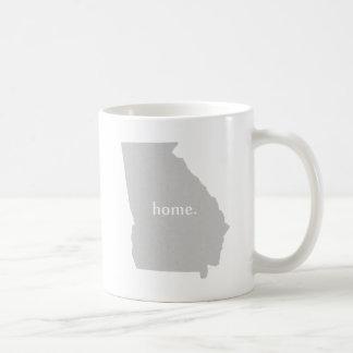 Georgia home silhouette state map coffee mug
