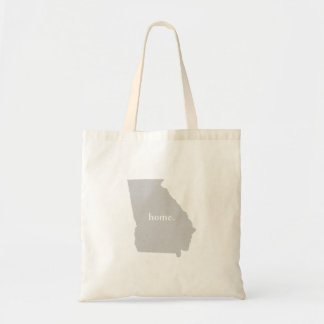 Georgia home silhouette state map tote bag