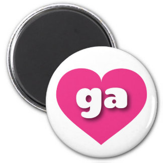 georgia hot pink heart - mini love magnet