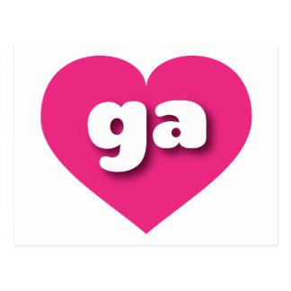 georgia hot pink heart - mini love postcard