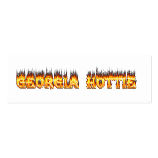 Georgia Hottie Fire and Flames Business Card