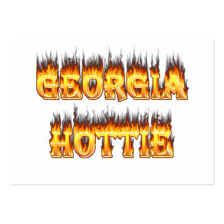 Georgia Hottie Fire and Flames Large Business Cards (Pack Of 100)