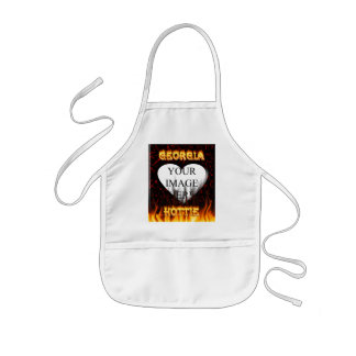 Georgia Hottie fire and flames red marble Kids' Apron