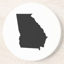 Georgia in Black and White Drink Coaster