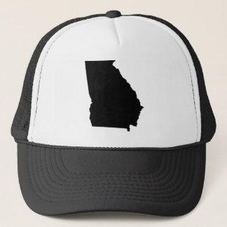 Georgia in Black and White Trucker Hat