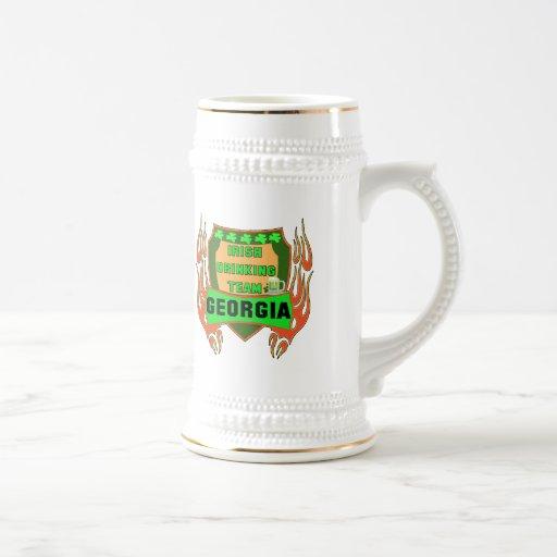 Georgia Irish Drinking Team T-shirts Gifts 18 Oz Beer Stein