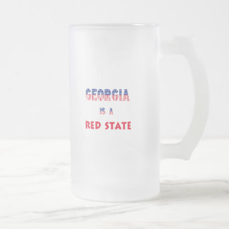 Georgia is a Red State Frosted Glass Beer Mug