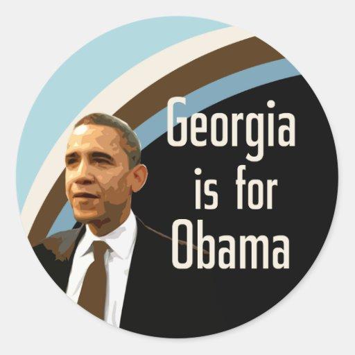Georgia is for Barack Obama Classic Round Sticker