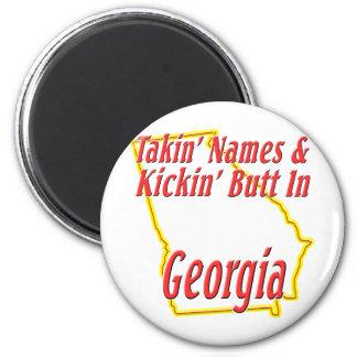 Georgia - Kickin' Butt 2 Inch Round Magnet