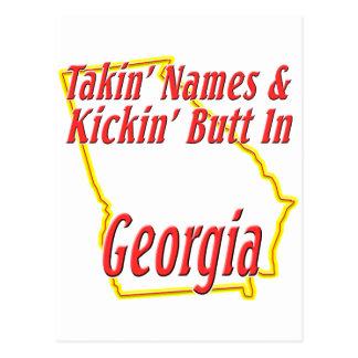 Georgia - Kickin' Butt Postcard