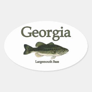 Georgia fishing stickers zazzle for Bass fishing in georgia