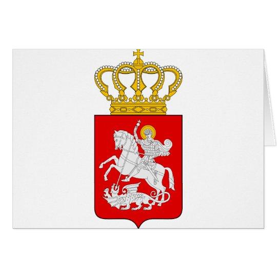 Georgia Lesser Coat Of Arms Card