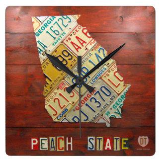 Georgia License Plate Map Clock