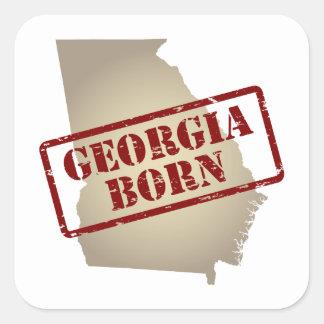 Georgia llevada - sello en mapa pegatina cuadrada