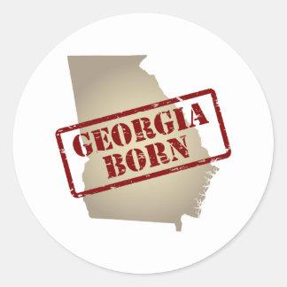 Georgia llevada - sello en mapa pegatina redonda
