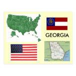 Georgia, los E.E.U.U. Tarjeta Postal