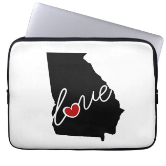 Georgia Love!  Gifts for GA Lovers Computer Sleeves
