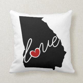 Georgia Love!  Gifts for GA Lovers Throw Pillows