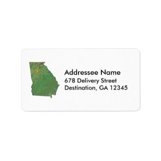 Georgia Map Address Label