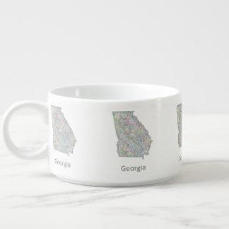 Georgia map bowl