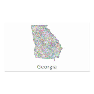 Georgia map Double-Sided standard business cards (Pack of 100)