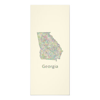 Georgia map card