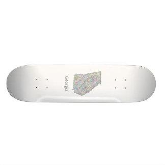 Georgia map custom skate board