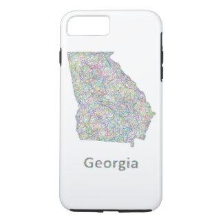 Georgia map iPhone 7 plus case