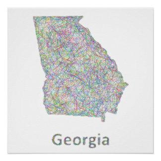Georgia map poster